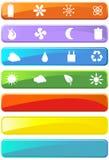 Botones cómodos del Web de Eco Imagenes de archivo