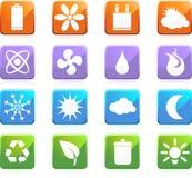 Botones cómodos del Web de Eco - cuadrado Imagen de archivo libre de regalías