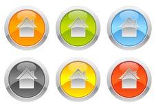Botones - caseros ilustración del vector