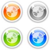 Botones CD. Fotos de archivo libres de regalías