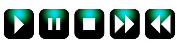 Botones CD del control de DVD Imagenes de archivo