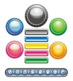 Botones circulares y rectangulares Imagen de archivo