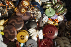 Botones clasificados Fotografía de archivo libre de regalías