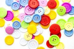 Botones clasificados brillantes, foto de archivo libre de regalías