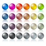 Botones coloreados Fotos de archivo