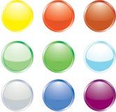 Botones coloreados Fotos de archivo libres de regalías