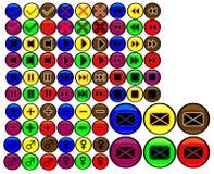 Botones coloreados Imagen de archivo libre de regalías