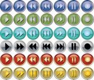 Botones coloreados de la música Imagenes de archivo