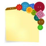 Botones coloreados del vector en la etiqueta engomada Fotos de archivo