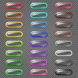 Botones coloreados del Web Fotografía de archivo libre de regalías