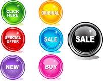 Botones coloreados del Web ilustración del vector