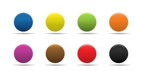 Botones coloridos stock de ilustración