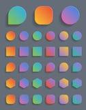 Botones coloridos Fotografía de archivo libre de regalías