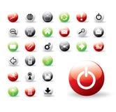 Botones coloridos brillantes del Web Fotografía de archivo