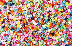 Botones coloridos, Clasper colorido Fotografía de archivo