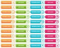 Botones coloridos de la transferencia directa y de la carga por teletratamiento libre illustration