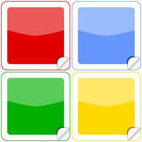 Botones coloridos de las etiquetas engomadas Fotos de archivo libres de regalías