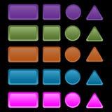 Botones coloridos del Web Foto de archivo