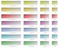 Botones coloridos del Web de los tamplates stock de ilustración