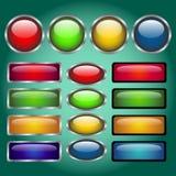 Botones coloridos del Web site Foto de archivo