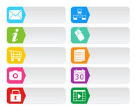 Botones coloridos para el web Imagenes de archivo