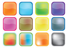 Botones coloridos - vector libre illustration