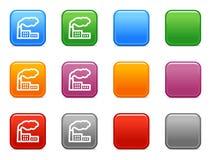Botones con el icono de la fábrica Fotografía de archivo libre de regalías