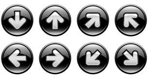 Botones con las flechas Fotos de archivo libres de regalías