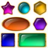Botones con las gemas multicoloras, conjunto Fotos de archivo