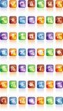 Botones con los iconos Imagen de archivo