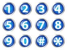 Botones con números Fotos de archivo