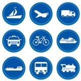 Botones. Concepto del transporte Imagenes de archivo