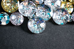 Botones cristalinos Imágenes de archivo libres de regalías