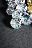 Botones cristalinos Fotos de archivo libres de regalías