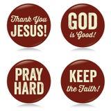 Botones cristianos del vintage, rojos Fotos de archivo