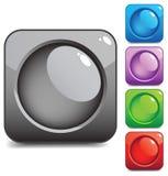 Botones cuadrados Imagen de archivo libre de regalías