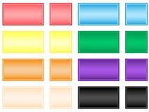 Botones cuadrados Imágenes de archivo libres de regalías