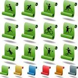 Botones cuadrados atléticos - desfile Foto de archivo libre de regalías