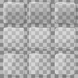 Botones cuadrados de cristal del vector para las aplicaciones móviles stock de ilustración