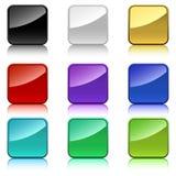 Botones cuadrados del color Imágenes de archivo libres de regalías