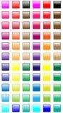 Botones cuadrados del Web Fotos de archivo libres de regalías