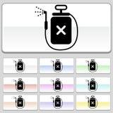 Botones cuadrados del Web - aerosol Foto de archivo