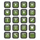 Botones cuadrados del Web - vector Fotografía de archivo