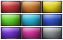 Botones cuadrados en nueve colores libre illustration