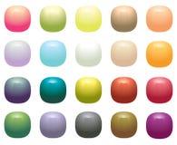 Botones cuadrados opacos brillantes libre illustration