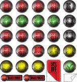 Botones/cupones de la venta Foto de archivo