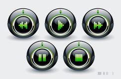 Botones de alta tecnología Imagenes de archivo