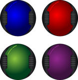 Botones de alta tecnología Fotografía de archivo libre de regalías
