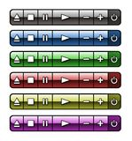 Botones De Audio Obrazy Royalty Free