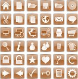 Botones de Brown Imágenes de archivo libres de regalías